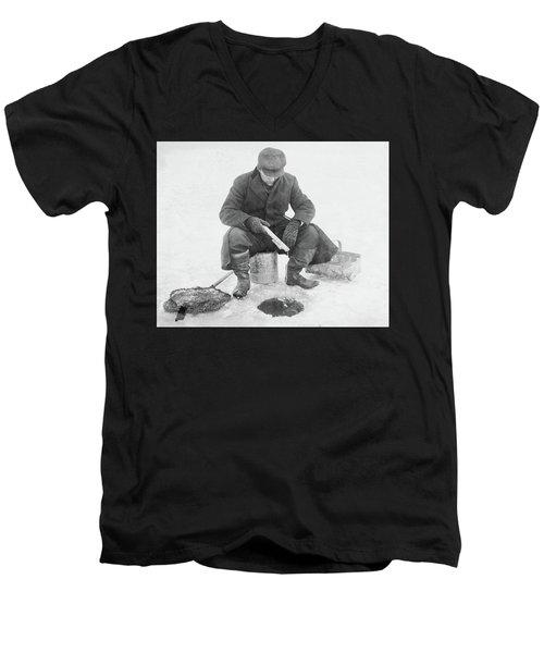 Fishing Through Ice Men's V-Neck T-Shirt