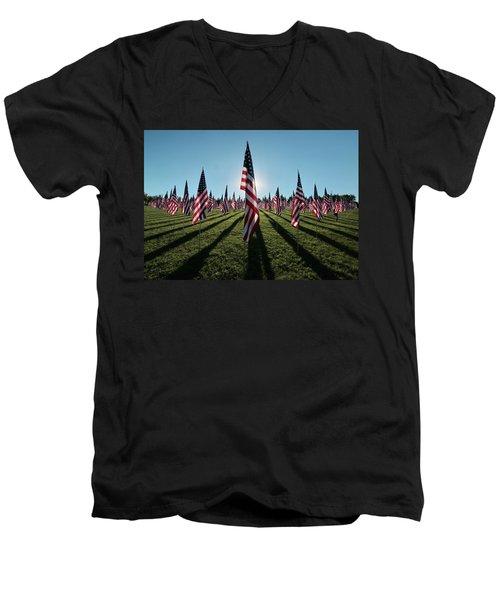 Flags Of Valor - 2016 Men's V-Neck T-Shirt