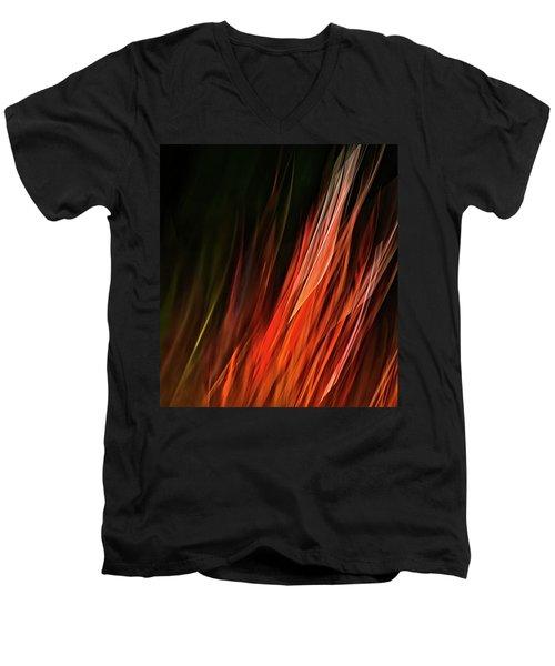 Flame Grass  Men's V-Neck T-Shirt