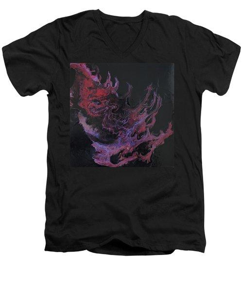 Flame  Men's V-Neck T-Shirt