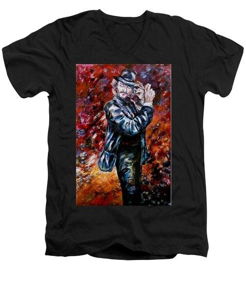 Flamenco Dancer 19 Men's V-Neck T-Shirt