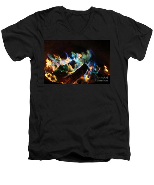 Flames Men's V-Neck T-Shirt