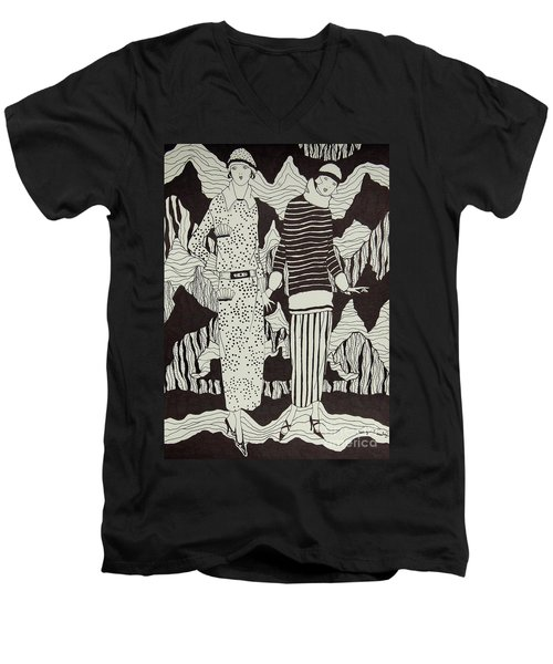 Flapper Girls Men's V-Neck T-Shirt