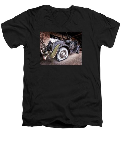 Flat Tire Men's V-Neck T-Shirt
