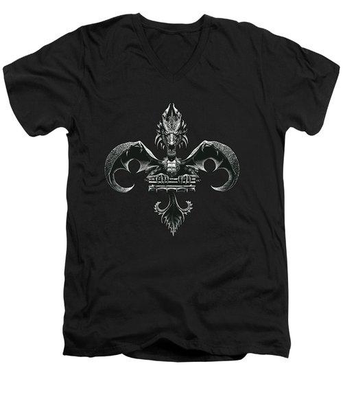 Fleur D Lis Men's V-Neck T-Shirt
