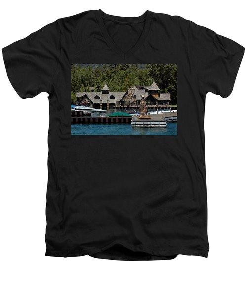 Fleur De Lac Mansion The Godfather II Men's V-Neck T-Shirt
