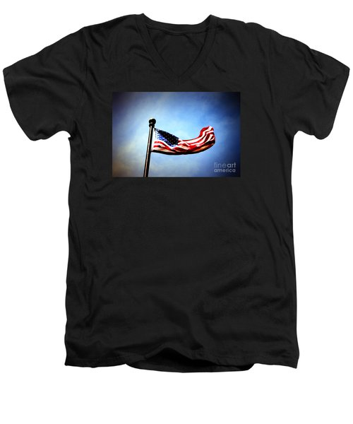 Flight Of Freedom Men's V-Neck T-Shirt