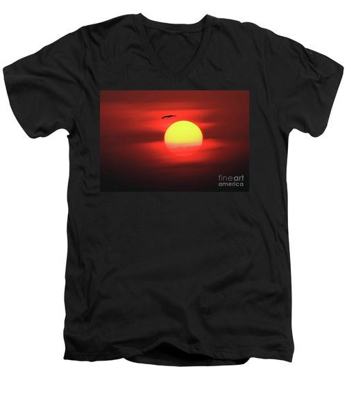 Flight To The Sun Men's V-Neck T-Shirt
