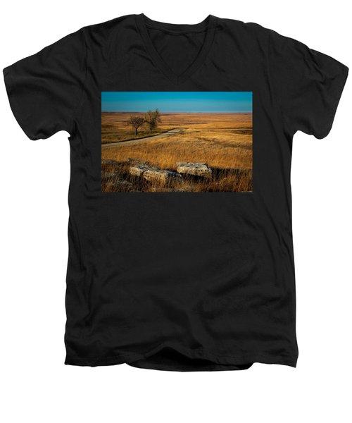 Flint Hills Two Trees Men's V-Neck T-Shirt