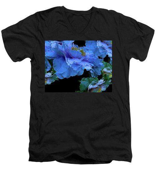 Floating Bouquet 14 Men's V-Neck T-Shirt by Lynda Lehmann