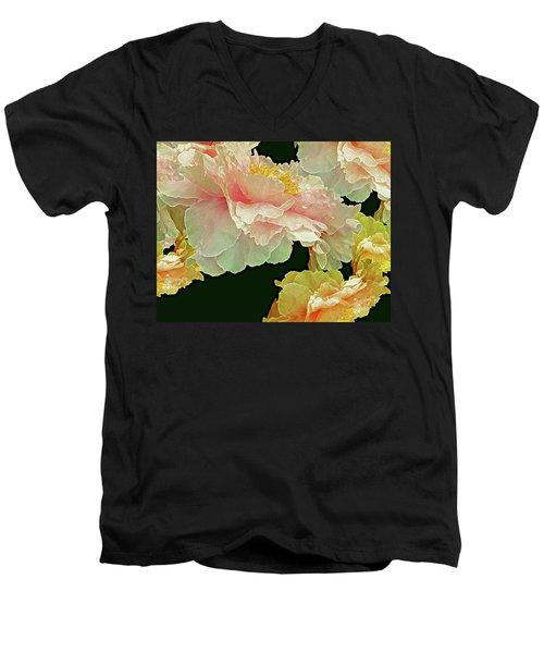 Floating Bouquet 31 Men's V-Neck T-Shirt by Lynda Lehmann