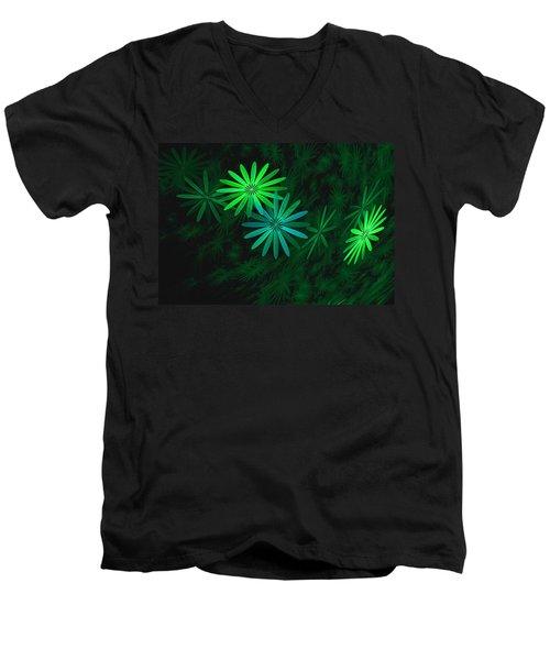 Floating Floral-007 Men's V-Neck T-Shirt