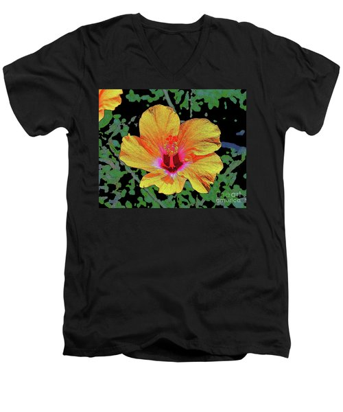 Floating Hibiscus Men's V-Neck T-Shirt