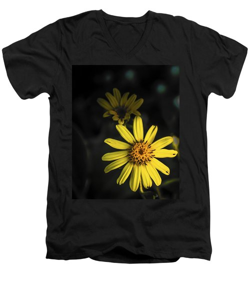 Flora In Yellow Men's V-Neck T-Shirt