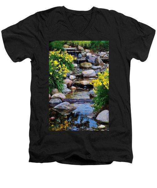 Floral Creek Men's V-Neck T-Shirt