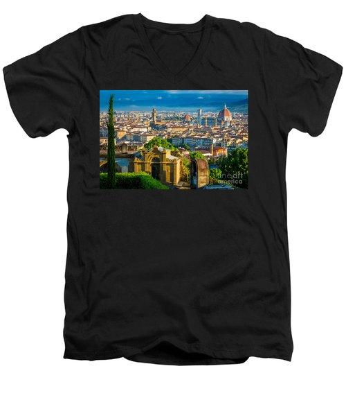 Florentine Vista Men's V-Neck T-Shirt