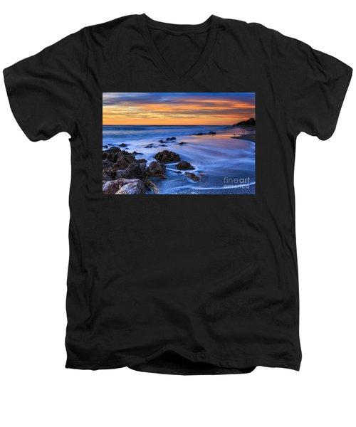 Florida Beach Sunset Men's V-Neck T-Shirt