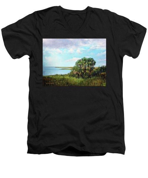 Florida Palms Men's V-Neck T-Shirt