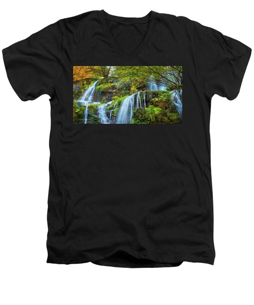 Men's V-Neck T-Shirt featuring the photograph Flow by John Poon