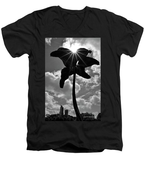Men's V-Neck T-Shirt featuring the photograph Flower Art by Zawhaus Photography