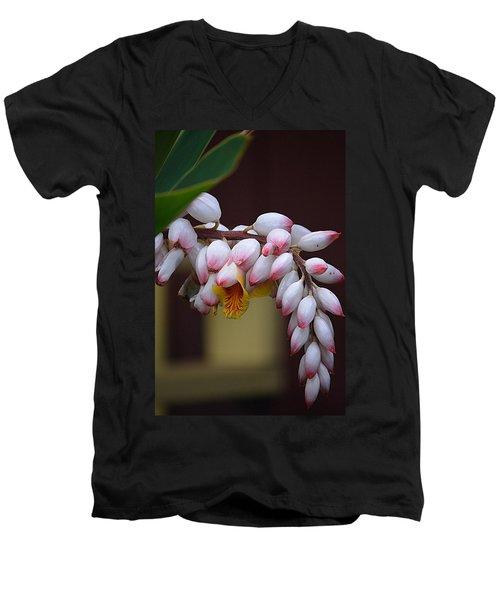 Flower Buds Men's V-Neck T-Shirt