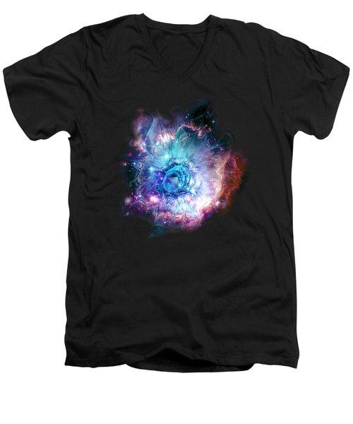 Flower Nebula Men's V-Neck T-Shirt