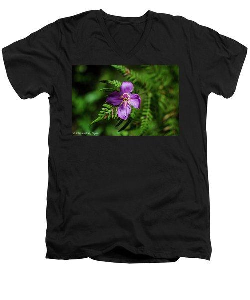 Flower On The Fern Men's V-Neck T-Shirt