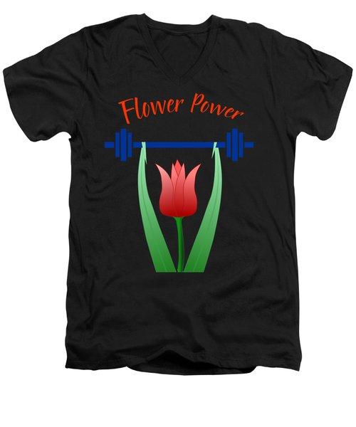Flower Power Men's V-Neck T-Shirt
