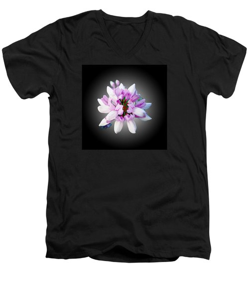 Men's V-Neck T-Shirt featuring the photograph Flower  Securigera Varia by Mike Breau