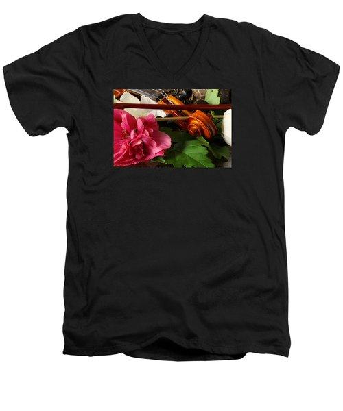 Flower Song Men's V-Neck T-Shirt by Robert Och