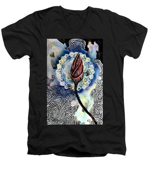 Flower Study 1 Men's V-Neck T-Shirt by Luke Galutia