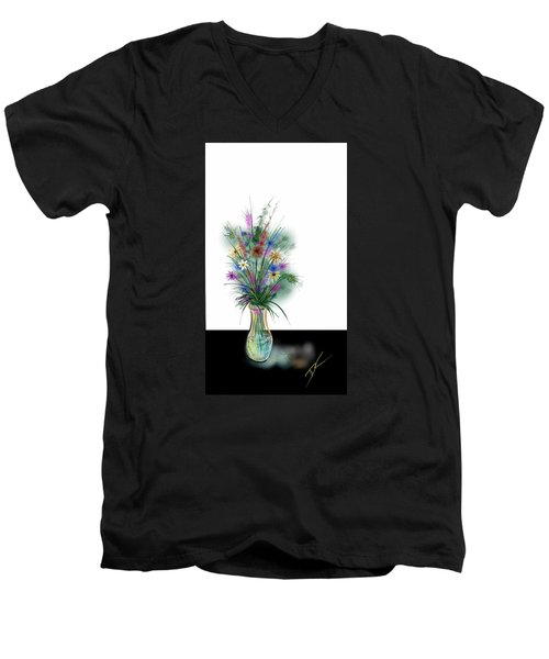 Flower Study One Men's V-Neck T-Shirt by Darren Cannell