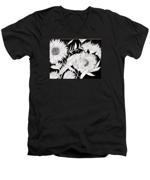 Flowers 2 Men's V-Neck T-Shirt by Lou Belcher