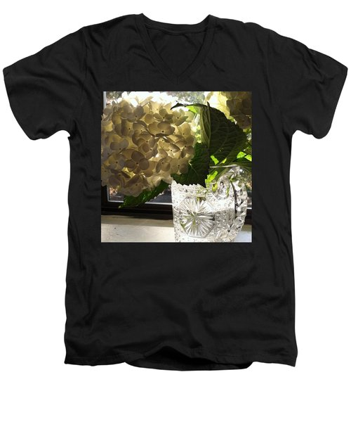 Flowers Always Inspire! Men's V-Neck T-Shirt