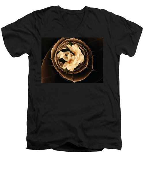 Flowers And Chocolate Men's V-Neck T-Shirt