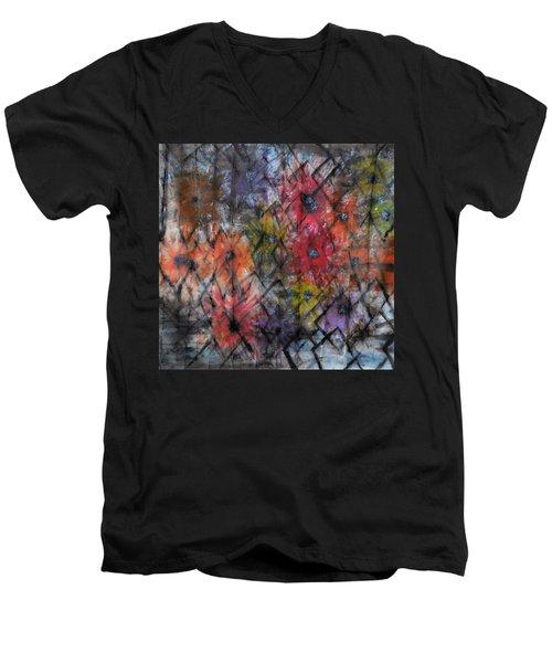 Flowers And Diamonds Men's V-Neck T-Shirt