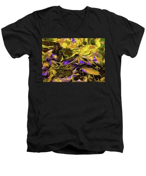 Flowers In The Garden Men's V-Neck T-Shirt