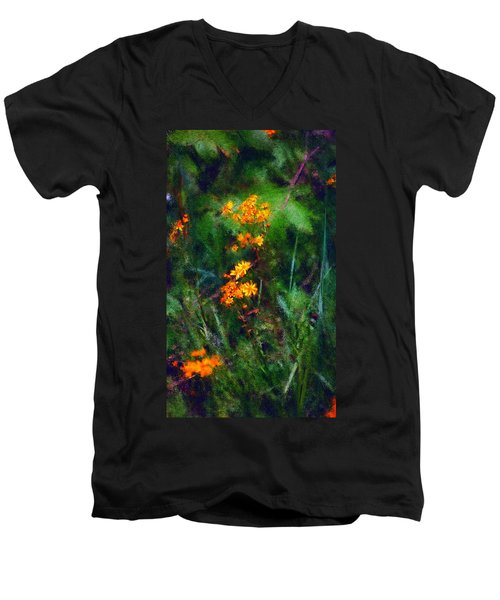 Flowers In The Woods At The Haciendia Men's V-Neck T-Shirt