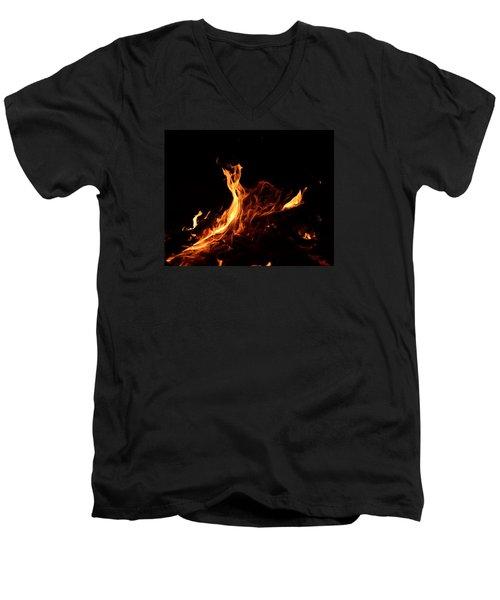 Flowing Men's V-Neck T-Shirt by Janet Rockburn