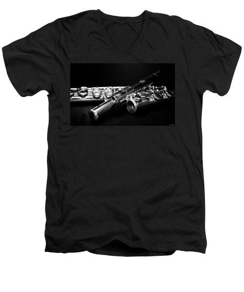 Flute Series I Men's V-Neck T-Shirt by Lauren Radke