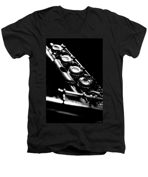 Flute Series IIi Men's V-Neck T-Shirt by Lauren Radke