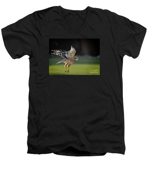 Men's V-Neck T-Shirt featuring the photograph Fly Away by Nava Thompson