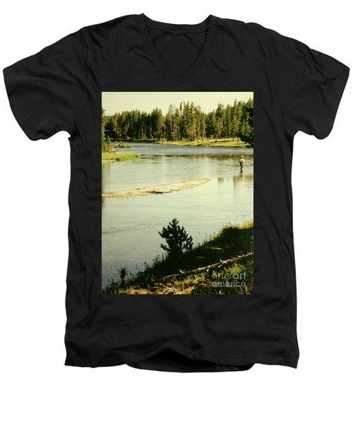 Fly Fishing Men's V-Neck T-Shirt