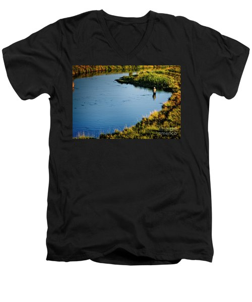 Fly Fishing  Men's V-Neck T-Shirt