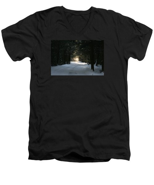Men's V-Neck T-Shirt featuring the photograph Flying Angel No.2 by Neal Eslinger
