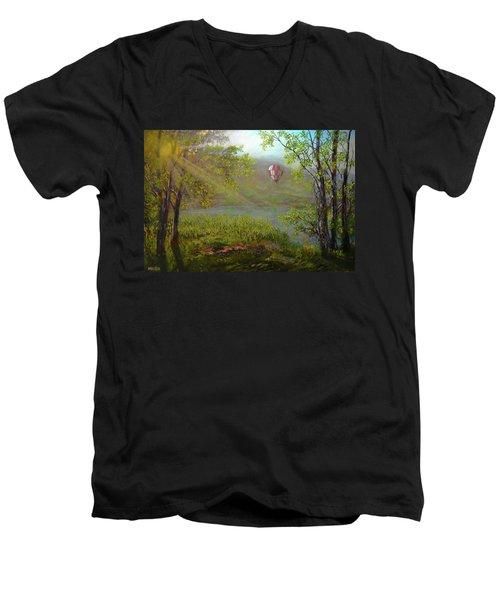Flying Away Men's V-Neck T-Shirt