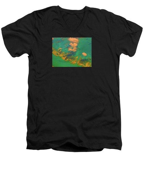 Flying Over The Keys, Florida Men's V-Neck T-Shirt