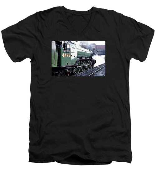 Flying Scotsman Locomotive Men's V-Neck T-Shirt
