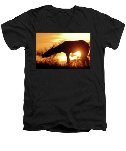 Foal Silhouette Men's V-Neck T-Shirt