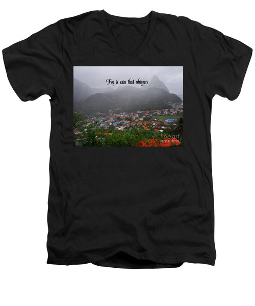 Men's V-Neck T-Shirt featuring the photograph Fog by Gary Wonning